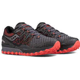 saucony Xodus Iso 2 GTX Running Shoes Women Gray/Coral